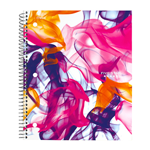 Five Star style 3 subject notebook