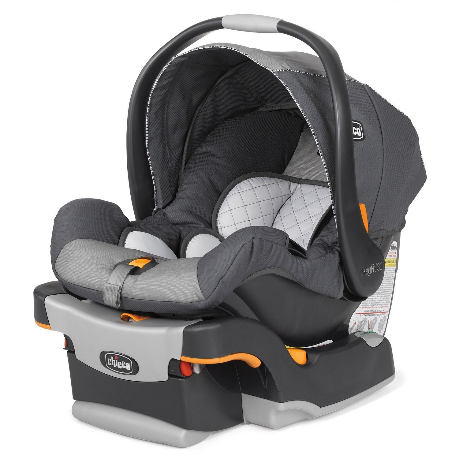 Black and grey Chicco KeyFit infant car seat - best infant car seat