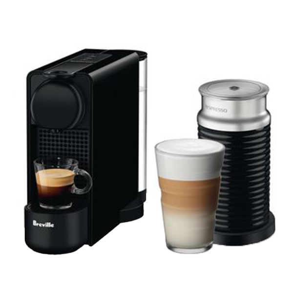 Best Nespresso Machine Overall - Nespresso Essenza Plus Espresso Machine by Breville with Milk Frother in Black