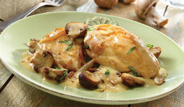 Chicken with cream sauce