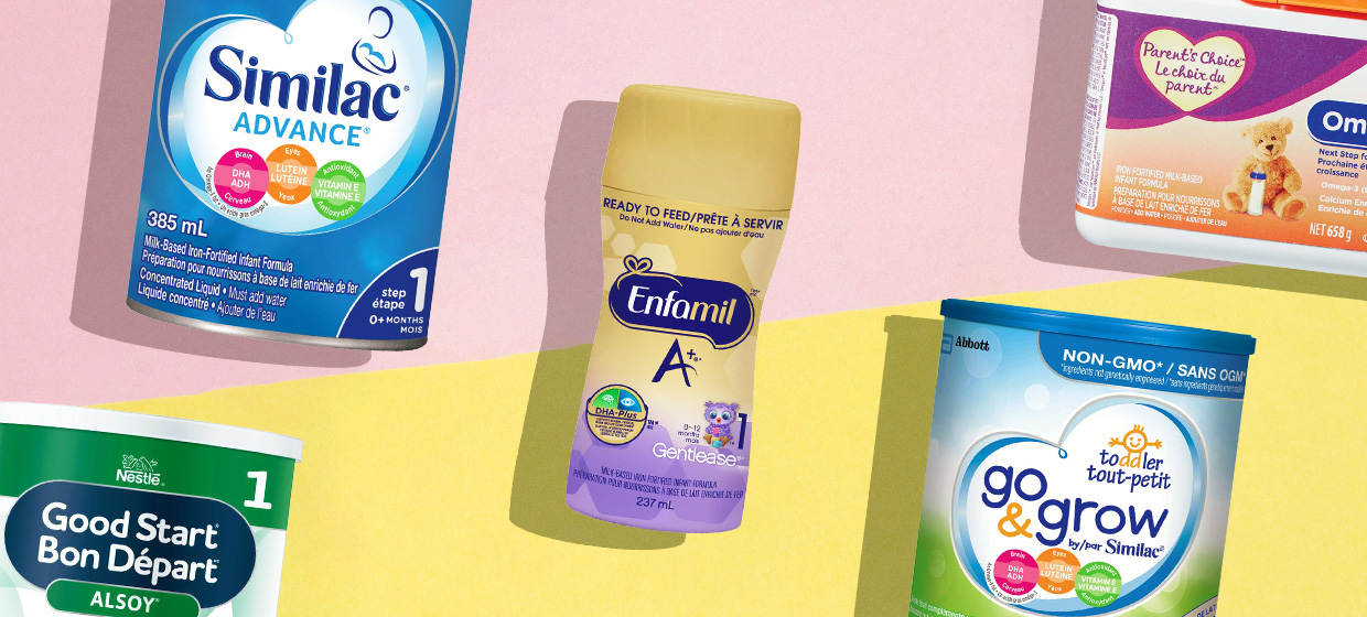 Five of the best car baby formulas in Canada from Nestle, Similac, Enfamil, and Parent's Choice.