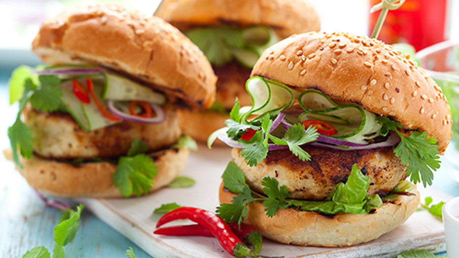Grilled Thai Turkey Burgers