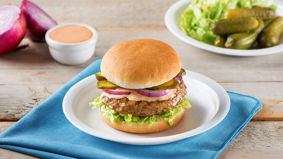 Grilled Burger With Secret Sauce Recipe