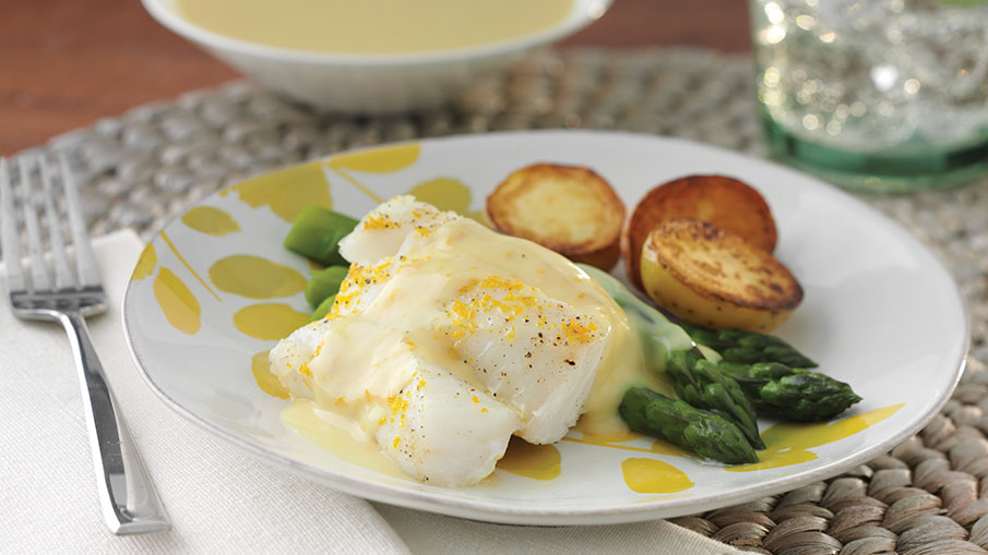Baked Haddock with Orange Hollandaise