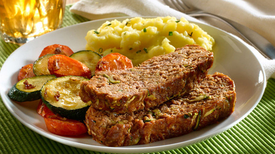 Meat Loaf with Roasted Vegetables