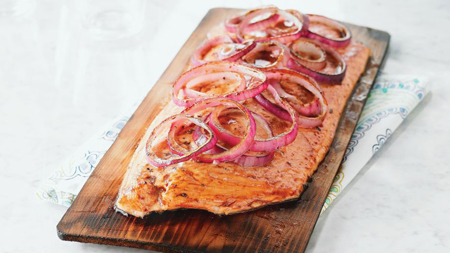 Cedar-Planked Salmon With Maple Glaze