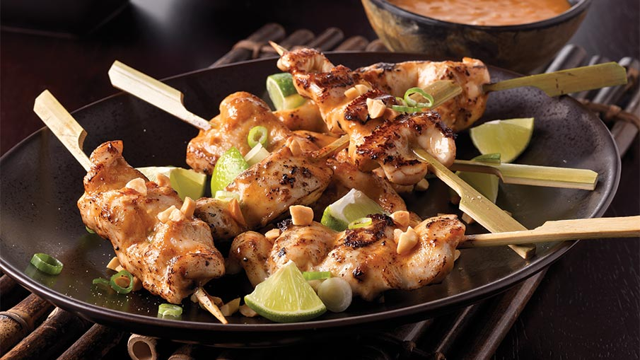 Chicken with Asian Peanut Sauce