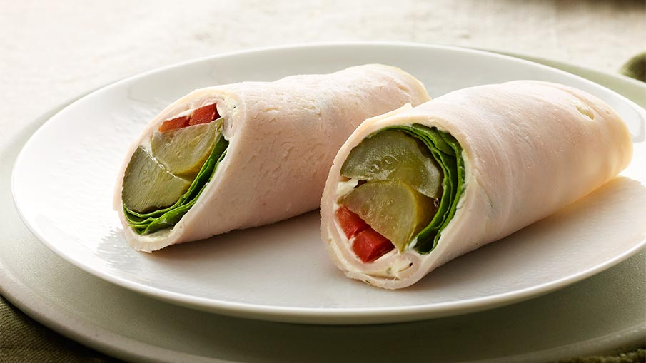 Vegetable-Chicken Roll-Ups