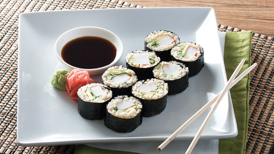 California Rolls with Brown Rice