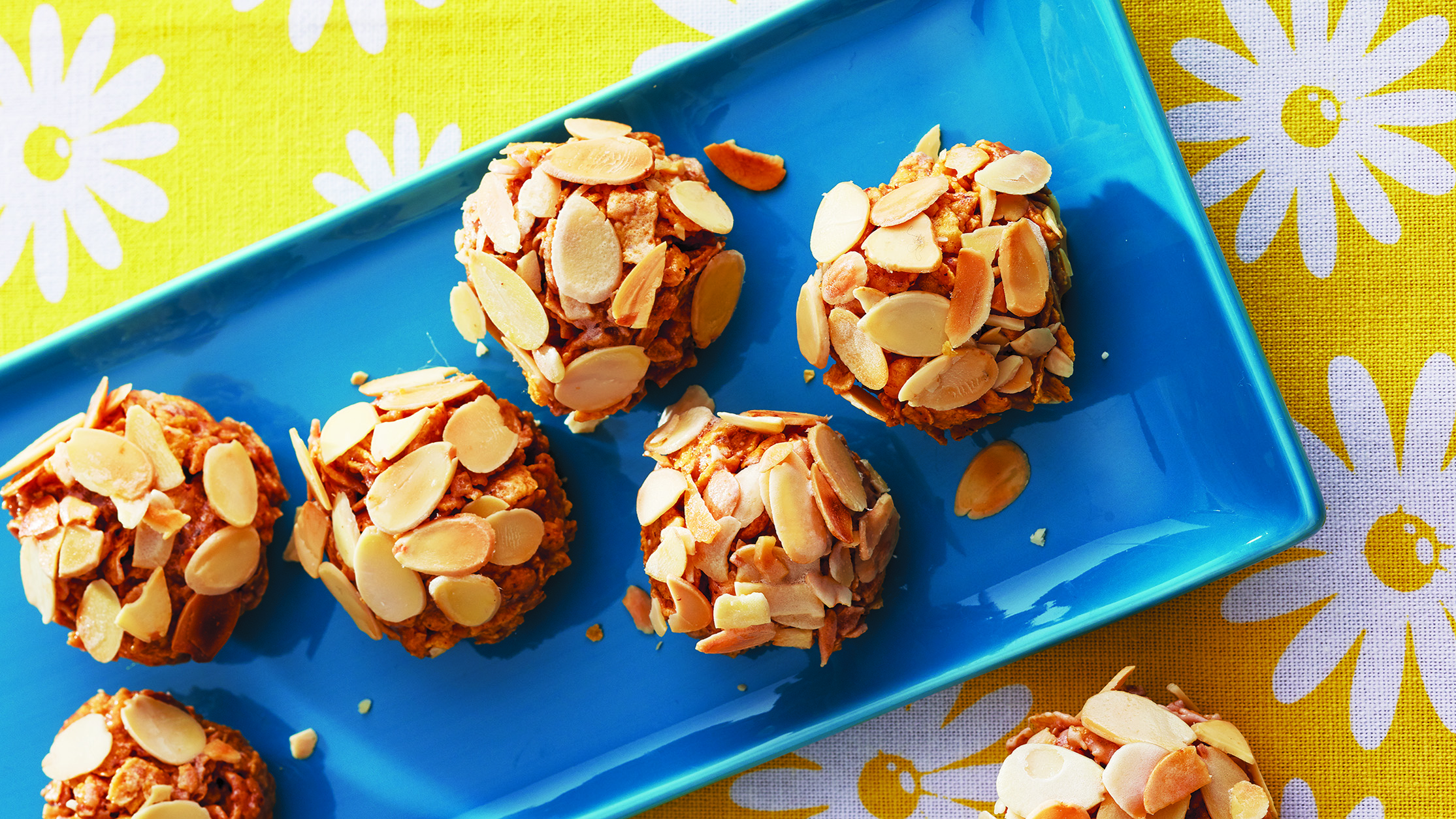 Almond Butter Cornflake Clusters