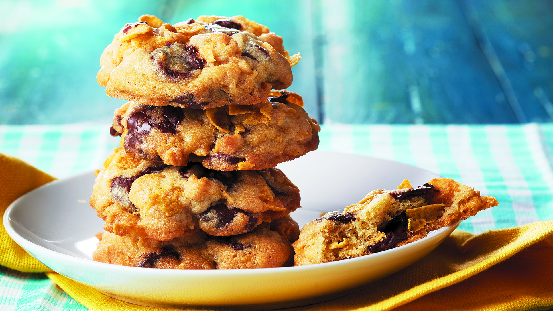 Chocolate Chip & Cornflake Cookies Recipe